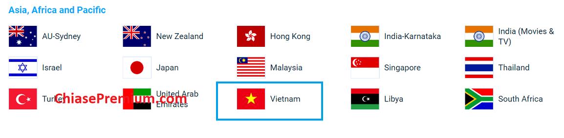 4. Co server VietNam - Đánh giá nhanh tài khoản KeepSolid VPN Unlimited 2020