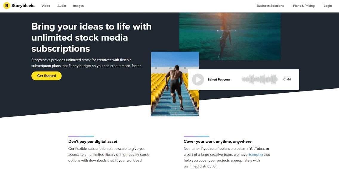 7 Storyblocks - Review Envato Elements (2021) - Thư viện hỗ trợ làm website Wordpress phổ biến