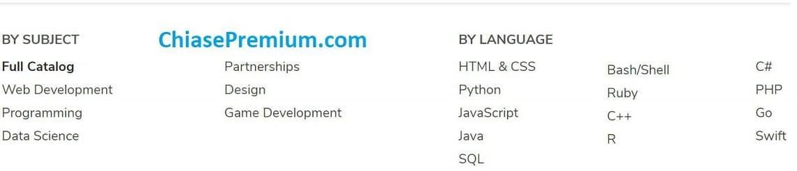 CodeCademy huong dan tat ca cac linh vuc lien quan den lap trinh - Tài khoản CodeCademy Pro 2020 - nền tảng học lập trình không thể thiếu