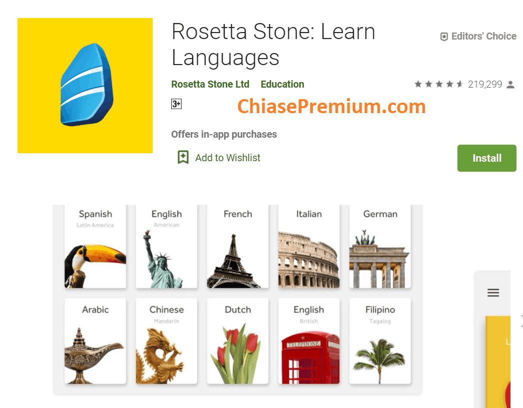 Rosetta Stone hỗ trợ rất nhiều ngôn ngữ khác nhau, gồm cả dạy tiếng Việt cho người nước ngoài.