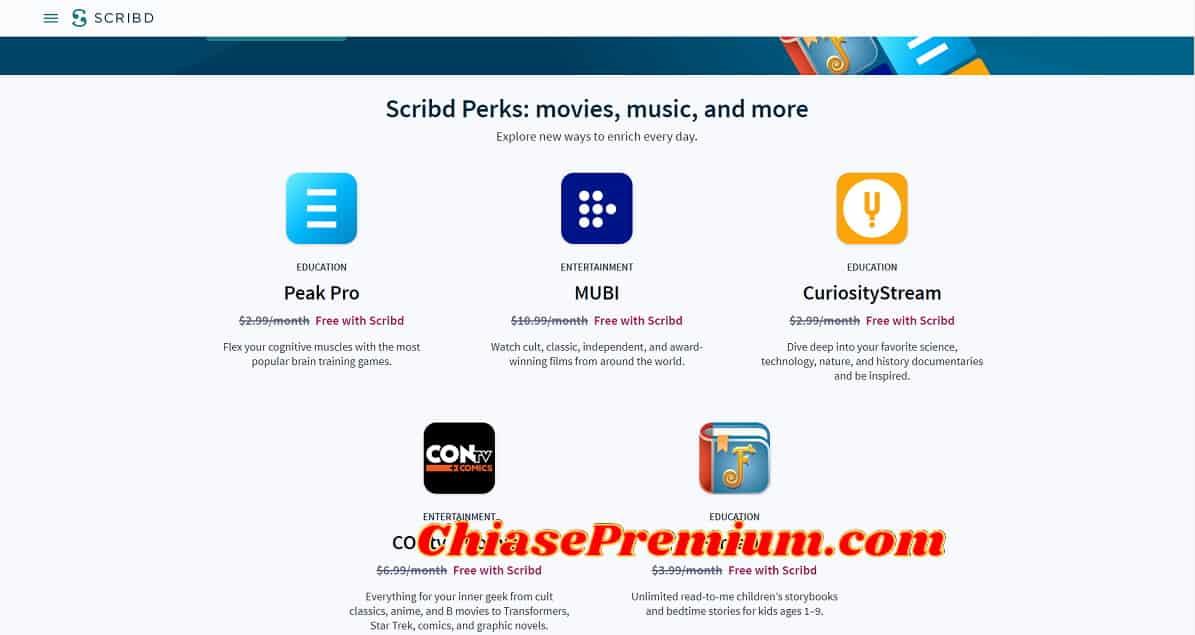 Scribd Perks - Đánh giá và chia sẻ tài khoản Scribd Premium-Thư viện kỹ thuật số tốt nhất hiện nay