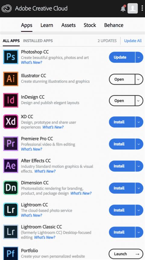 Adobe đưa thêm sản phẩm của mình lên môi trường di động, thông qua ứng dụng trên iOS và Android.