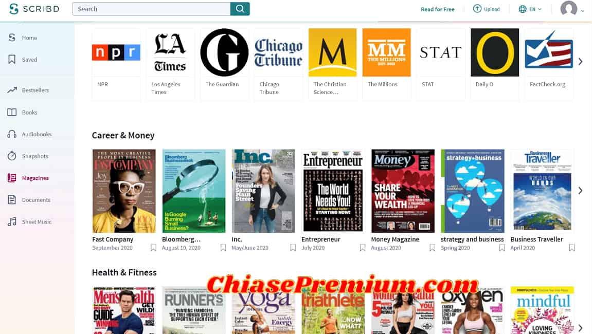 Scribd gives readers access to 1,000 magazines - Truy cập hơn 1000 tạp chí trên Scribd