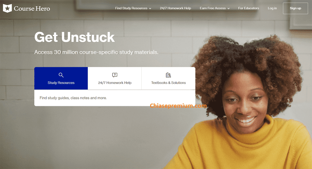 Đánh giá nhanh và chia sẻ truy cập tài khoản Course Hero (4/2020) giá rẻ