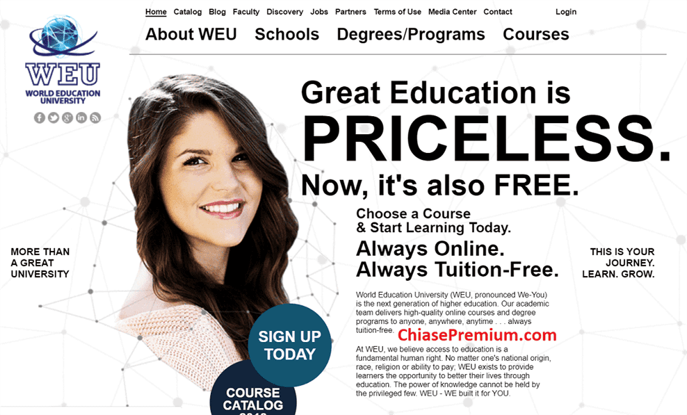 WEU có những khoá học miễn phí 100% dành cho những sinh viên đại học