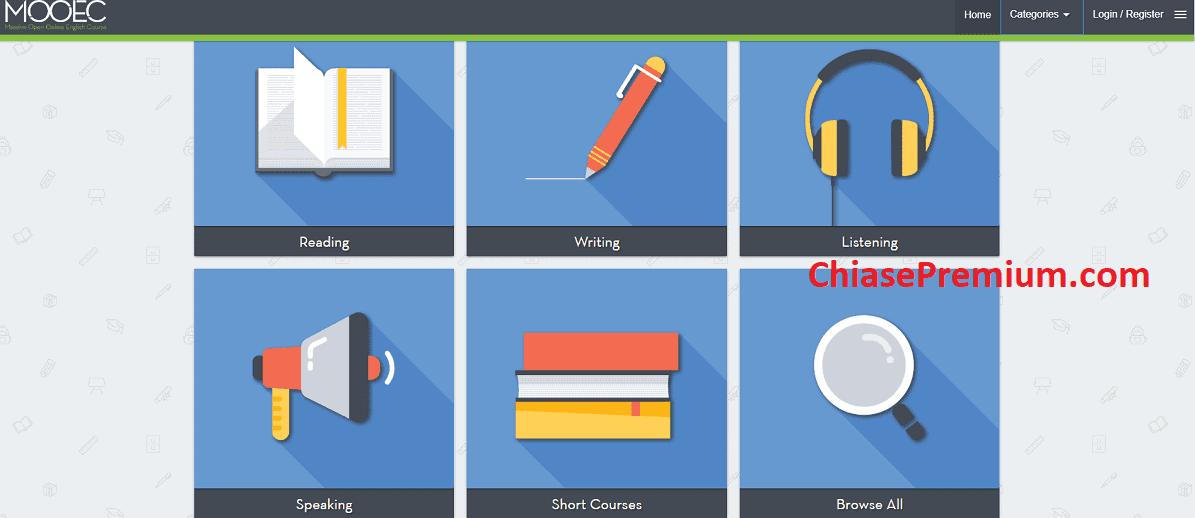 MOOEC cung cấp các khoá học tiếng Anh trực tuyến ngắn.