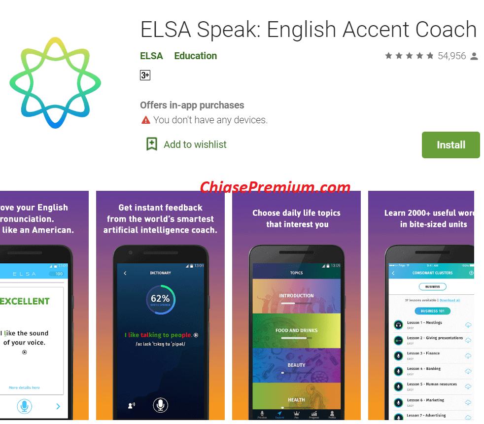 Elsa Speak được coi là ứng dụng học tiếng Anh tốt nhất trên thế giới