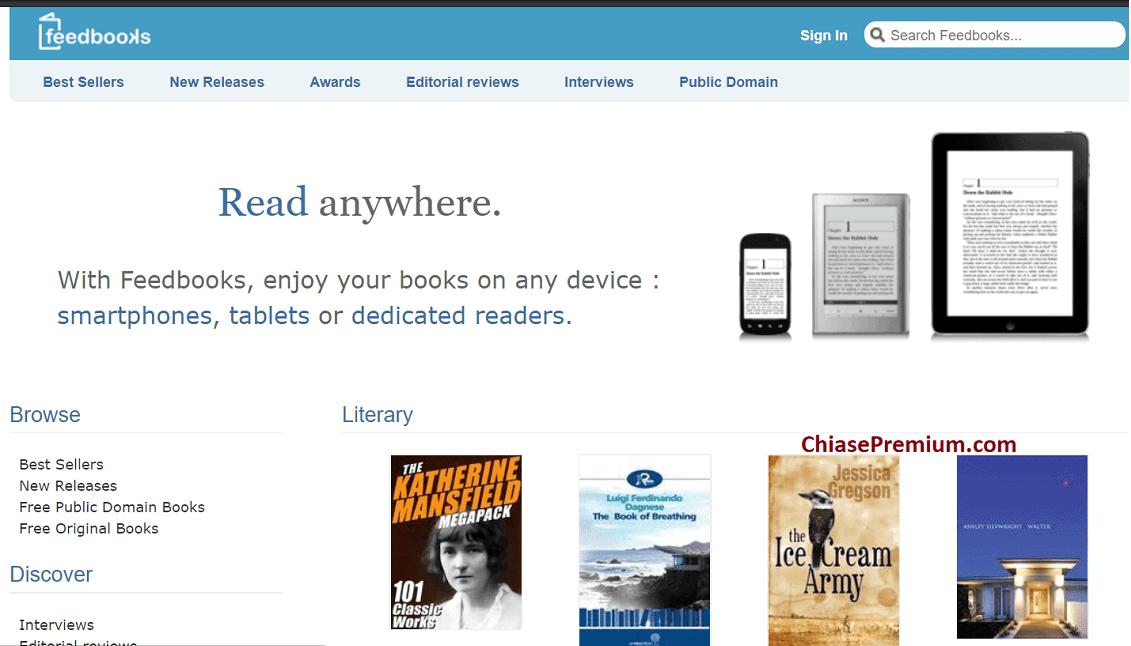 Trên Feedbooks bạn có thể tải ebook miễn phí bằng tiếng Pháp, tiếng Anh và nhiều ngôn ngữ khác