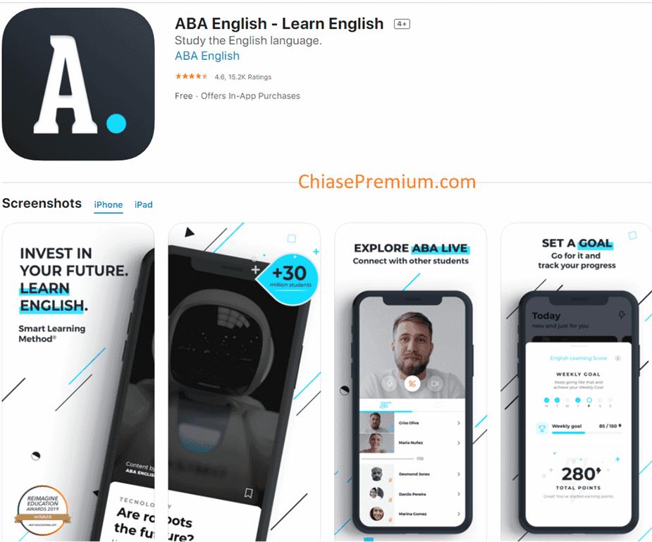 BA English đã được giải thưởng Reimagine cho ứng dụng giáo dục tốt nhất năm 2015.