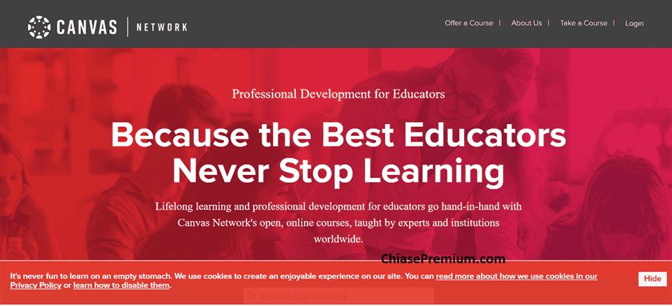 """Canvas Network là một website dành cho """"những người học suốt đời"""""""