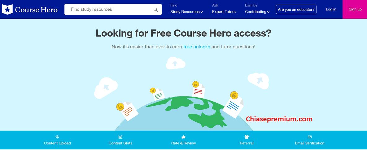Đăng ký thành viên Cours Hero Premier sẽ mang lại trong bạn nhiều hữu ích khi cần trợ giúp từ gia sư hoặc có thể mở khóa để tải về nhiều tài liệu hay.