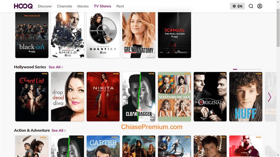 Danh muc giai tri cua Hooq.tv  - Đánh giá nhanh và chia sẻ tài khoản Hooq.tv 2020 – Trải nghiệm gần tương đương HBO, Netlix