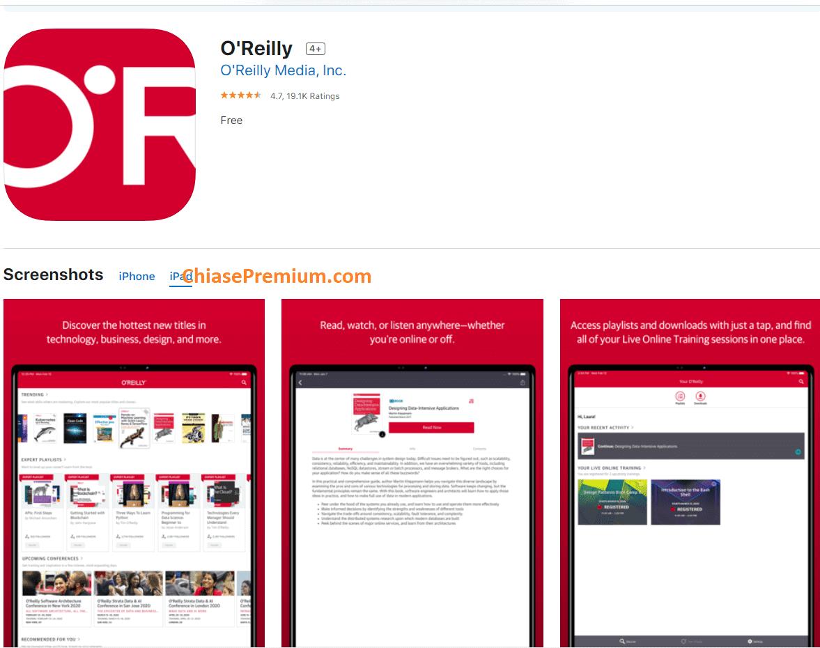 O'Reilly Online Learning đồng bộ rất tốt giữa nhiều thiết bị truy cập khác nhau.