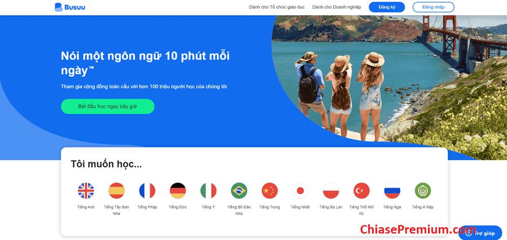 Tai khoan Busuu la gi - Học nhiều ngoại ngữ với tài khoản Busuu Premium Plus 1 năm