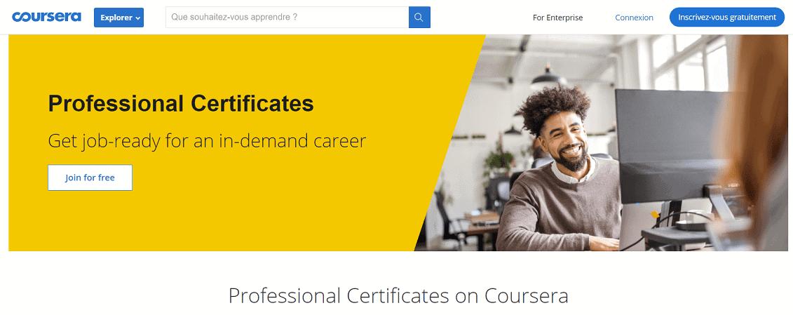 Professional Certificates mang tính định hướng nghề nghiệp hơn