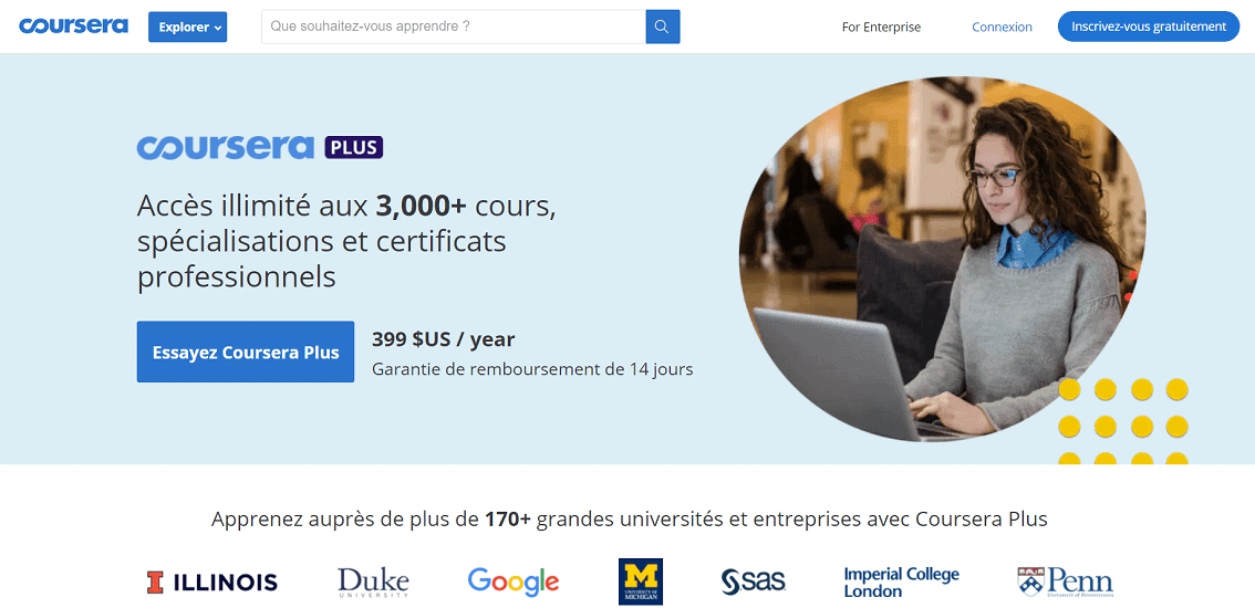 Tài khoản Coursera Plus có phí gần 400 đô la/năm