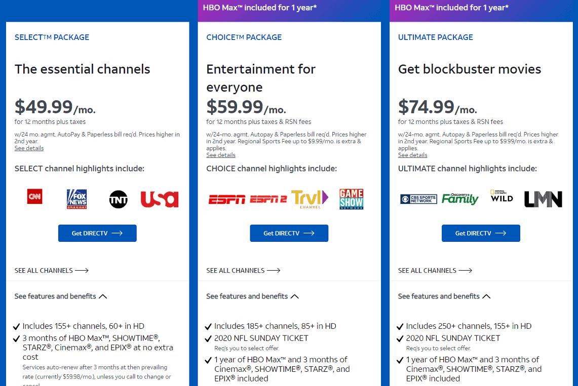 DirecTV mặc dù có mức phí khá đắt, nhưng xứng đáng là lựa chọn thay thế tài khoản Netflix giá rẻ
