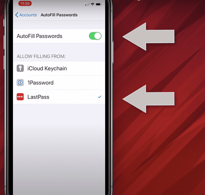 Cài đặt để Lastpass tự động đăng nhập trên hệ điều hành iOS