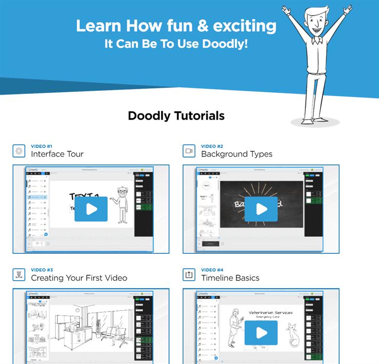 Doodly cung cấp video hướng dẫn rất chi tiết