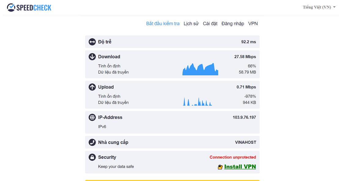 2.Kiem tra toc do Windscribe VPN - Chia sẻ trải nghiệm với 5 tiện ích mở rộng VPN dành cho trình duyệt tốt nhất 2020